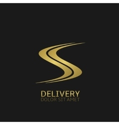 Delivery logo icon vector