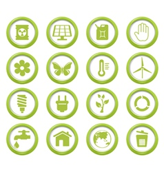 Eco green buttons set vector image