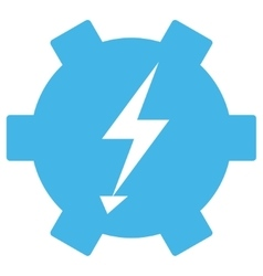 Electric power gear eps icon vector