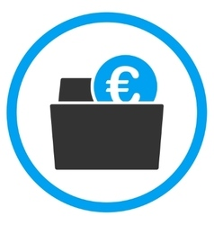 Euro Wallet Rounded Icon vector image vector image