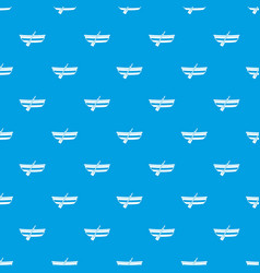fishing boat pattern seamless blue vector image vector image