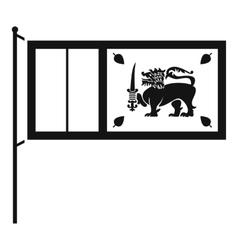 Flag of sri lanka icon simple style vector