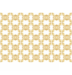 Gold ornament pattern vector