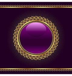 golden ornamental medallion vector image
