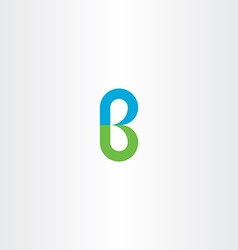 green blue logo b letter b logotype icon vector image