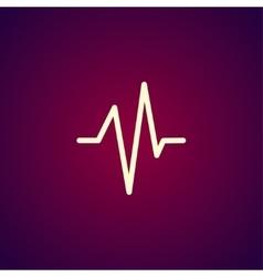 Heart beat Cardiogram Medical icon - vector image