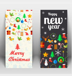 holidays greeting cards vector image