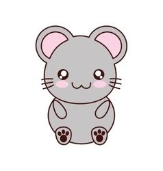 Mouse kawaii cute animal icon vector