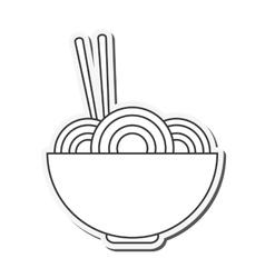 Noodle bowl food design vector