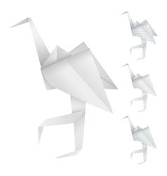 Origami birds vector image