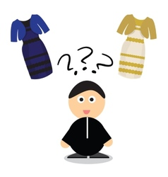 Puzzle what color of dress white and gold or vector