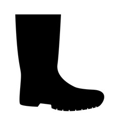 rubber boots the black color icon vector image