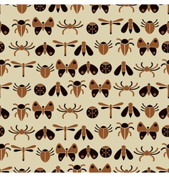 Seamless background with bugs and insects vector
