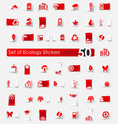 Set of ecology stickers vector