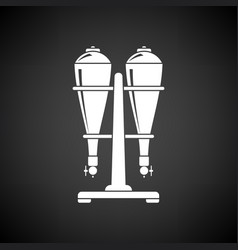 Soda siphon equipment icon vector