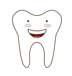 teeth healthcare dental icon vector image