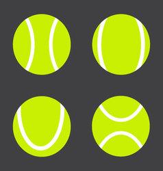 Tennis ball set vector image