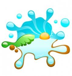 Tropical splash vector