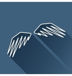 wings icon Eps10 vector image