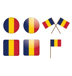 Badges with flag of chad vector