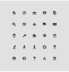 Icons for education and science vector image