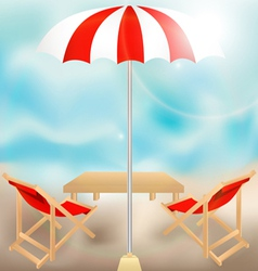 Seat in summer vector