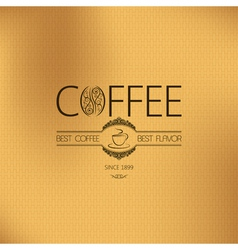 Coffee vintage label vector