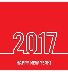 2017 Happy new year background vector image vector image