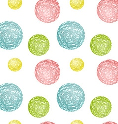 Seamless pattern composed of multicolored circles vector
