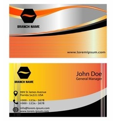 Set of vertical business card vector