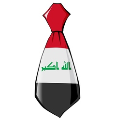 Necktie in national colours of iraq vector