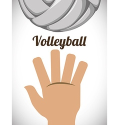 Volleyball design vector