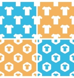 T-shirt pattern set colored vector