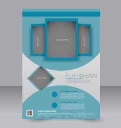 Brochure template Business flyer vector image