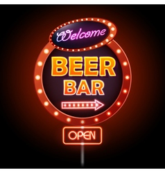 Beer bar Neon sign vector image