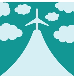 Abstract background with airplane and clouds vector image vector image