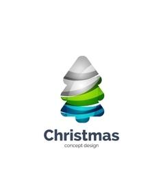 abstract geometric Christmas tree icon vector image vector image