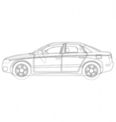 auto sketch vector image