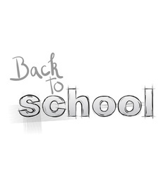 back to school sketch vector image vector image
