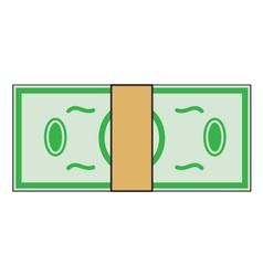 Cartoon money dollar banknote paper bill isolated vector image vector image