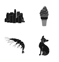 Cat home progress and other web icon in black vector