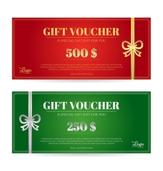 Christmas Gift Card Or Gift Voucher Template Vector Image Vector Image  Present Voucher Template