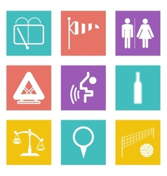 Color icons for web design set 45 vector