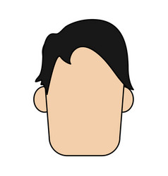colorful realistic image faceless front view man vector image