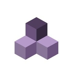 Cube isometric logo concept 3d vector image vector image