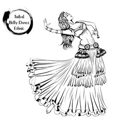 dance line tribal belly dance vector image