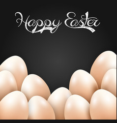 Easter eggs isolated black background vector