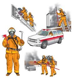 First responders art 005 vector