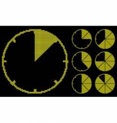 graph gauges is luminosity tiles vector image