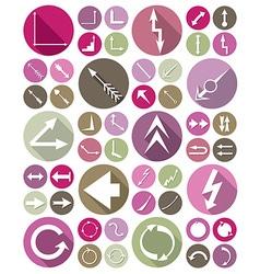 icons arrows set vector image